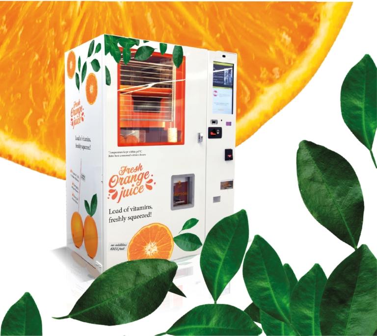 Orangensaft Automat