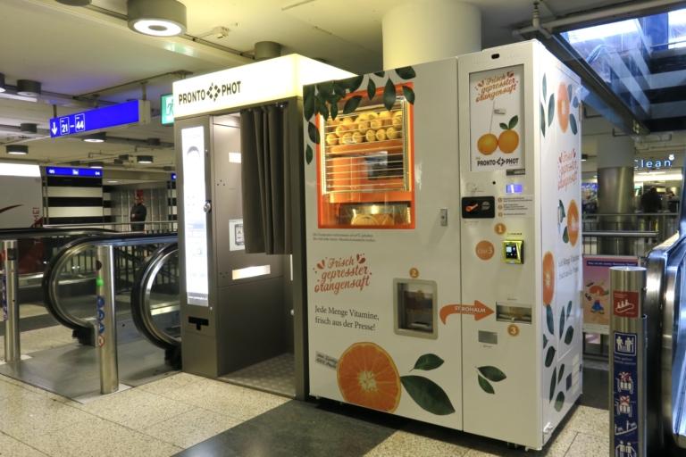 frisch geprester Orangensaft am HB Zürich